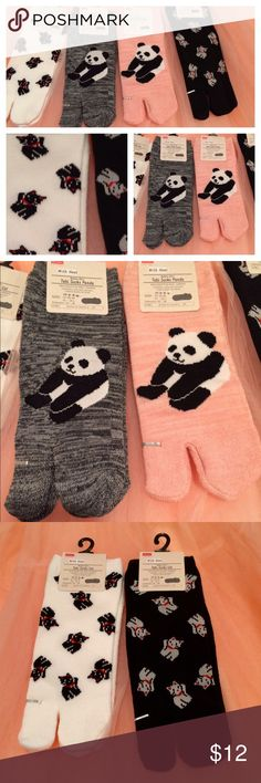 Japanese Tabi Socks 2 for $12 Japanese Tabi socks. 2 for $12. I call them 'house socks'. Size: US 6-8. Choose between pandas and waving cats. Accessories Hosiery & Socks