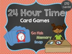 24 hour clock time freebie help your students learn how for How do you play go fish card game