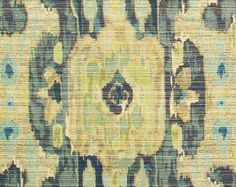 Chartreuse Ikat Fabric Contemporary Ikat by PopDecorFabrics Ikat Curtains, Ikat Pillows, Pillow Fabric, Ikat Fabric, Curtain Material, Master Bedroom, Vintage World Maps, Upholstery, Club