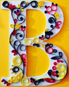 Hidden Mickey quilling project.
