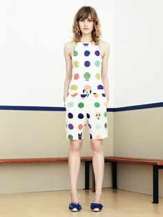 House of Holland Summer 2013: Love the quirky cartoon balls of wool on this design