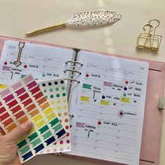 Color Coding im Filofax Notebook, Coding, Organization, Color, Getting Organized, Organisation, Colour, Notebooks, Colors