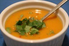 My favorite sweet potato jalapeno soup recipe - So yummy, warm, sweet, and just a little bit spicy. Delish! www.jenningsbaby.blogspot.com