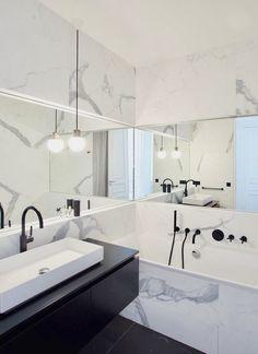 Bathroom – Parisian Apartment of – GCG Architects Badezimmer Pariser Apartment von GCG Architects - Marble Bathroom Dreams Bad Inspiration, Bathroom Inspiration, Bathroom Ideas, Bathroom Vanities, Shower Ideas, Bathroom Organization, Kmart Bathroom, Bathroom Pictures, Basement Bathroom