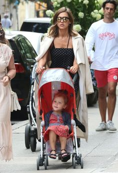 Jessica Alba Goes For A Walk With Haven
