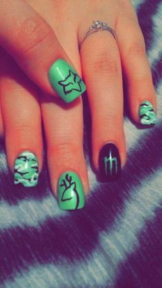 Monster Energy Fox Browning Nails I Am In Loove Too