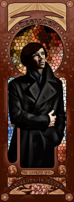 Sherlock stained glass.  I kind of want this in the house @Carolyn Rafaelian Rafaelian Rafaelian Aldis
