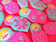 Postreadicción galletas decoradas, cupcakes y pops: Galletas decoradas: Matrioshkas