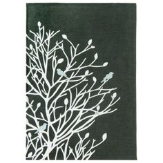Room Birds and Branches Area Rug - Gray : Target Mobile Baby Room Rugs, Baby Rooms, Laundry Room Rugs, Happy Room, Target Rug, Art Area, Modern Area Rugs, Woodland Baby, Room Accessories