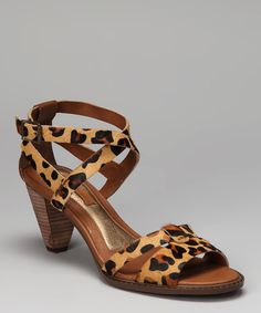 Take a look at this Brown Leopard Haircalf Lailie Sandal on zulily today!