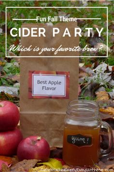 GREAT idea for a Fall Party!!