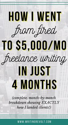 Wanna start your own freelance writing business? Steal the strategies I used to build one quickly and make $5,000 per month from it fast!