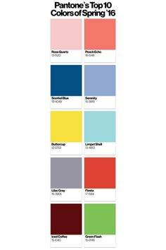 Farbbilder: Pantone stellt Frühjahrpalette vor 2016