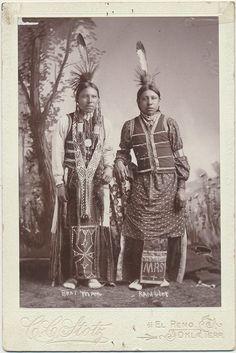 1890- 1907 CC Stotz cabinet card of Bear Man & Rambler photographed in El Reno Oklahoma Territory.