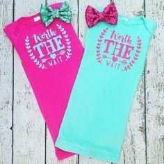 New design is perfect for twin girls! #twins #babygirl #babygift #newborn #newbabyboutique #newbornbaby