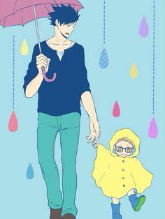 Kuroo & Tsukishima. Too cute!