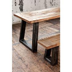 Oud Eiken tafel | Grand Oak 200 - 300 cm Trapeze poot - Naturel