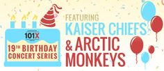 #PirateEnergy is sponsoring The Birthday Concert Series by 101X. We will be at the Kaiser Chiefs concert on September 25th and the Arctic Monkeys concert on October 28th. We can't wait to see you there! #101x #alternative #music #concert