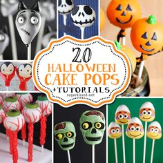 Tons of creative Halloween cake pop designs. Each one comes with a step-by-step tutorial so they're easy for you to make!