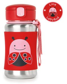 Zoo Stainless Steel Little Kid Straw Bottle from Skiphop.com. Shop clothing & accessories from a trusted name in kids, toddlers, and baby clothes.