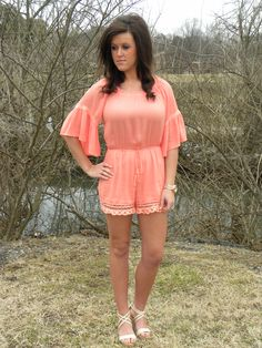 Summer Romper in Coral