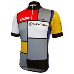 Cycling Jerseys · The La Vie Claire team colours are based on the iconic  artwork of Piet Mondrian dfa39b9ca