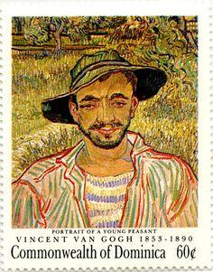 COLLECTION~Postage Stamp. Retrato de un joven campesino