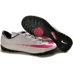 http://www.asneakers4u.com Nike Mercurial CR7 Victory II TF Turf Football Trainers Soccer Shoes White/Pink