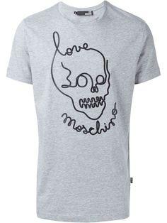 logo skull print T-shirt