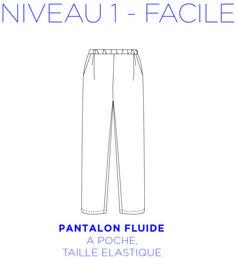 patron couture pantalon elastique