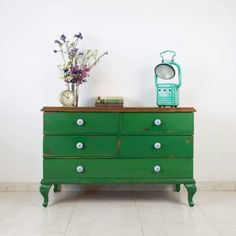 painted furniture - green dresser