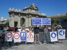 Acción realizada en Madrid el 9 de julio de 2012 con motivo de la visita de la relatora de Naciones Unidas para el Derecho Humano al Agua y al Saneamiento
