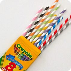 colorful straws for an art party