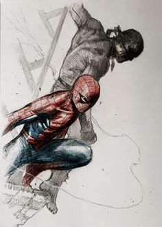 Spider-Man and Daredevil by Gabriele Dell'Otto *
