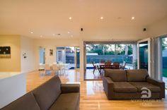 same level timber decking - colour of internal flooring