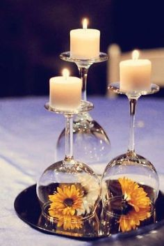 Centros de mesa con copas (5)