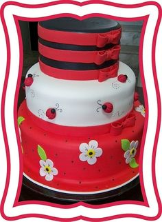 ladybugs cake by hiidy