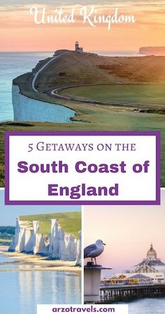 5 Getaways on the South Coast of England. Weekend getaways from London - where it is all about charming cities and beautiful landscapes. Hastings, Dover, Eastbourne, Brighton, Canterbury. Why these 5 towns should be on your England bucket list.