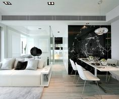 Black & White Inspiration: 35 Contemporary Decors Opening Up A World of Ideas {via materialicious.com}
