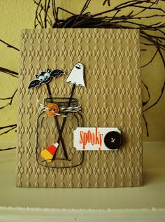penguinstamper: Perfectly Preserved Halloween Card Without the bat and ghost for just a cute fall card!:D