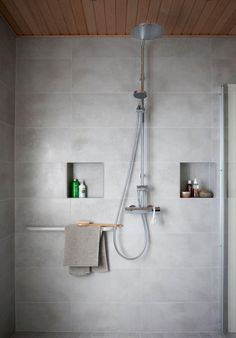 Bathroom - with Oras Cubista thermostatic shower faucet + Oras Hydra rain shower. Water is worth Loving! Bathroom Spa, Bathroom Toilets, Bathroom Renos, Basement Bathroom, Bathroom Renovations, Small Bathroom, Bathroom Ideas, Shower Ideas, Scandinavian Bathroom