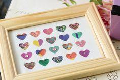 BIHA Designs: SUMMER BLOOM Heart Art Collaged Frame Piece. Etsy