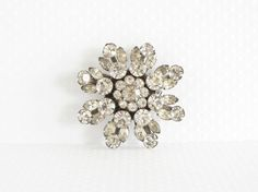 Vintage Coro Layered Rhinestone Brooch by auntemilie on Etsy, $54.00