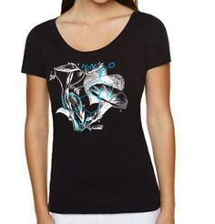 Ladies' Morning Glory T shirt by ClosetOfMysteries on Etsy, $18.00