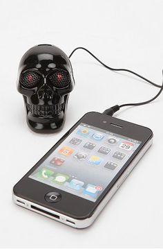 Skull iPhone sound box - Skullspiration.com - skull designs, art, fashion and more