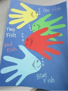 Dr Seuss One Fish Two Fish Red Fish Blue Fish Eco-friendly Craft for Kids