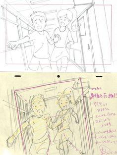 #アニメ私塾搬运#这次是学校走廊的主题 Manga Drawing Tutorials, Drawing Techniques, Art Tutorials, Key Drawings, Cool Drawings, Animation Reference, Drawing Reference, Storyboard, Tutorial Draw