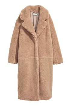 H&M Long Pile Coat. Gorgeous teddy coat. Neutral outfit for