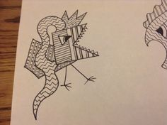 Another zentangle doodle creature...love drawing these.