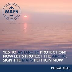 Wonderful news this weekend! Delegates from 24 countries and the European Union have agreed that the Ross Sea in Antarctica will become the world's largest marine protected area (MPA). This is a step in the right direction. We need polar ice for a healthy planet.  Now let's protect the Arctic Ocean. The Marine Arctic Peace Sanctuary will an even bigger marine protected area creating an oasis of calm in our stressed oceans and helping to keep the planet cool. Please sign the petition at…